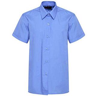 Double F Blue Color School Uniform Shirt For Girls