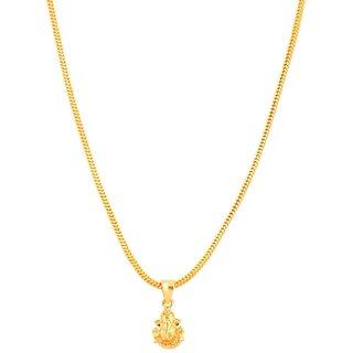Jewar Mandi Chain Traditional Ethnic One Gram Gold Plated With Lord Ganesh Ji Pendant Jewelry for Women  Girls