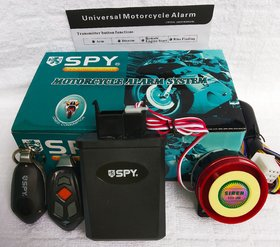 SPY anti theft alarm system for bike security with Remote Engine Start Starter.