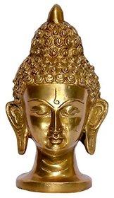 Metalcrafts showpiece, Buddha Head, Brass, 15 cm