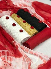 Combo Pack Dress Materials (3 Top 1 Bottom 1 Dupatta) Dress Materials