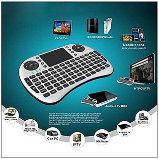 Mini 2.4GHz Wireless Touchpad Keyboard with Mouse for PC/PAD/360XBox/PS3/Google Android TV Box/HTPC/IPTV (2.4G Black)