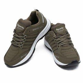 Clymb Men Tan Sports Shoes