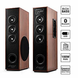 OBAGE DT-2605 Home Theater Multimedia Dual Tower Speakers with Bluetooth USB AUX FM MMC