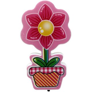 LED Night Lamp Plug-in Wall Flower - Red