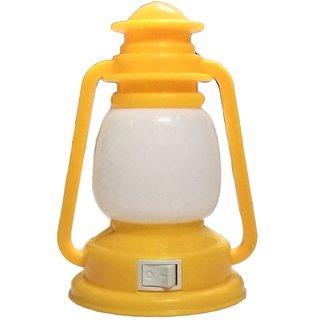Lamp Shape LED Night Light Plug-in Switch Night Lamp-Yellow