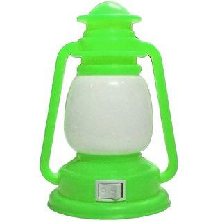 Lamp Shape LED Night Light Plug-in Switch Night Lamp-Green