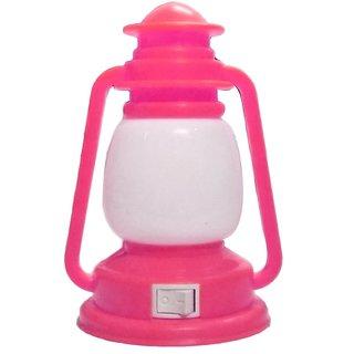 Lamp Shape LED Night Light Plug-in Switch Night Lamp-Pink