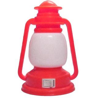 Lamp Shape LED Night Light Plug-in Switch Night Lamp-Red