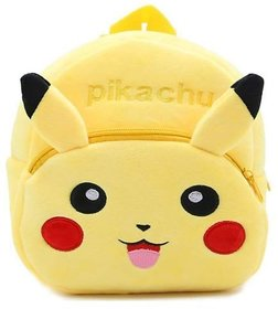 PROERA unisex Pikachu Yellow Kids School Bag