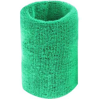 Neska Moda Unisex Green Cotton Wrist Band WB30