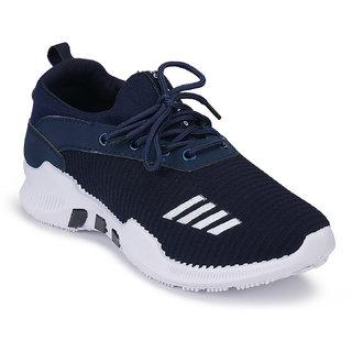 Birde Navy Mesh Sport Shoes For Men
