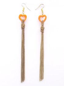 Party Wear Long Chain Tassel Earring.