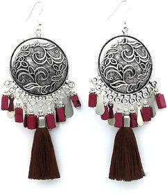 Long Tassel Ceramic Beads Party wear earring