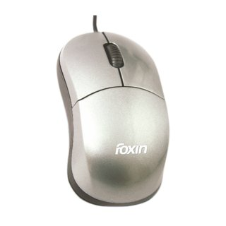 Foxin Wired Mouse Smart Grey