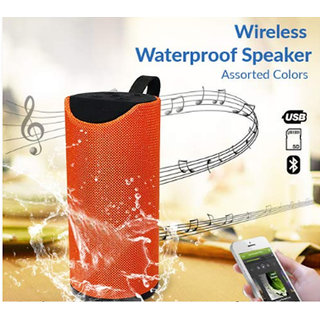Compact Bluetooth Speaker Stereo Sound Box Speaker Wireless Subwoofer Loudspeaker Orange