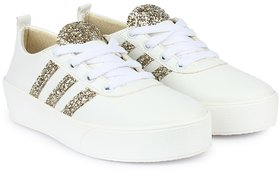 Do Bhai Smart Casual White Sneakers For Women