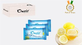 Oasis Natural Wipes - 25 Pulls Packs With Lemon - Wetwipes