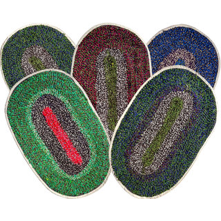 SHF Cotton Door Mats For Home Set of 5 piece 35x55 cm (Assorted Color)