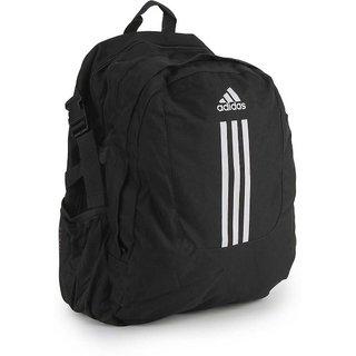 ADIDAS black and white unisex backpack