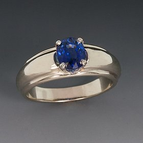Original Blue sapphire Ring Lab Certified  Unheated Stone Neelam /Blue Sapphire Gold Plated Ring By CEYLONMINE