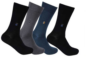 4 Pairs Full Length Socks (Assorted Color)