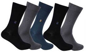 5 Pairs Full Length Socks (Assorted Color)