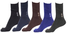 5 Pairs Superone Full Length Socks (Assorted Color)