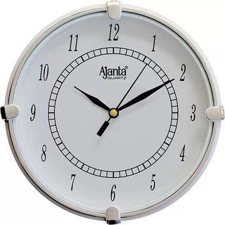 Ajanta White Wall Clock 411w