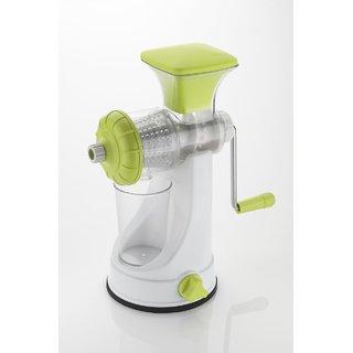 Fruit Vegetable Manual Steel Handle Polypropylene Hand Juicer (Transparent 1 Jar)