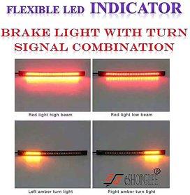 ESHOPGLEE BIKE / SCOOTY / FLEXIBLE LED STRIP 48 SMD LED INDICATOR / TAIL LIGHT / INDICATOR / BRAKE LIGHT WITH TURN SIGNAL COMBINATION