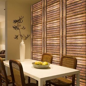 Jaamso Royals Retro Wood Grain Striped - Peel and Stick Wallpaper - Self Adhesive Wallpaper - Easily Removable Wallpaper - Use as Wall Paper, Contact Paper, or Shelf Paper(45 X 100 CM)