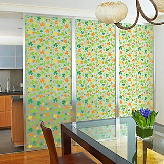 Jaamso Royals Privacy Window Film Printed Window Frosting Film Window Sticker Window Frosted Vinyl Sheets for Front Door/Bathroom/Sidelight/Small Windows(45 X 100 CM)