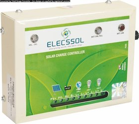 Elecssol 12V 10A Solar Charge Controller With Mobile Charging Option Supported upto 100W Solar Panel