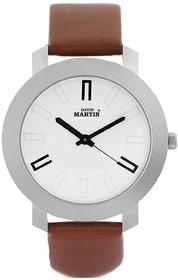 David Martin DMST021 BROWN Round Dial Wrist Watch for Men Watch - For Men  Women