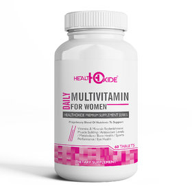 HealthOxide Multivitamins for Women with 54 total nutrients for daily health and body building  60 Veg Tablets