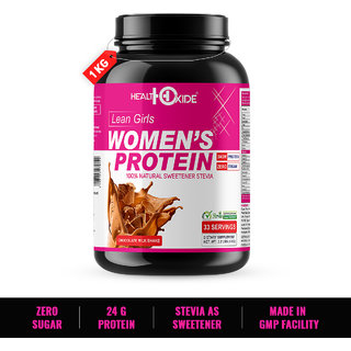 HealthOxide Womens Protein with 100 Natural Sweetener Stevia  1 kg (Milk Chocolate flavor) with free shaker