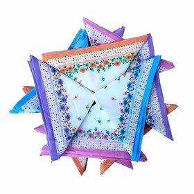 12 Pcs. Ladies Multicolour Handkerchiefs Assorted Color