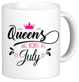 QUEENS are born in July Printed Coffee Mug Best Gift For your love one/daughter/best friends/girlfriend