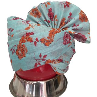 Madhu shree safa  sherwani Turtoise  red printed flower jodhpuri readymade safa for men