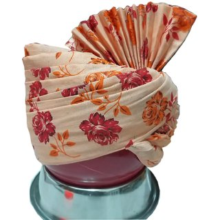 Madhu shree safa  sherwaniCream  red printed flower jodhpuri readymade  safa for men