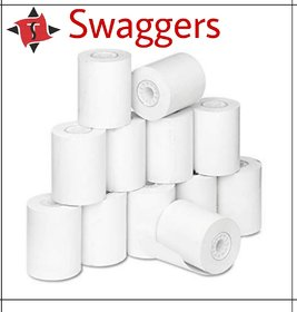 Swaggers 2 inch billing machine thermal paper rolls(set of 10 rolls)