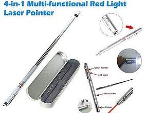 4in1 Red Laser Pen Light Pointer Ferule Led Torch