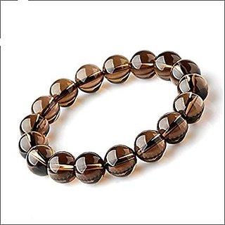 REBUY Smoky Quartz Bracelet for Mental Piece Natural Smoky Quartz Bracelet Free Size Unisex
