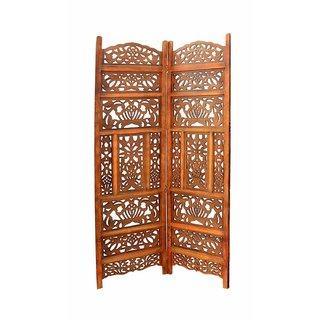 Shilpi Handicrafts Wooden Partition Room Divider in 2 panel