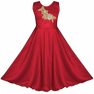 Sat Creation bebi Girls Birthday Frock Dress Flower Gown3-12 Years