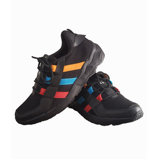 Black Synthetic Outdoor Hiking Shoes For Mens5036