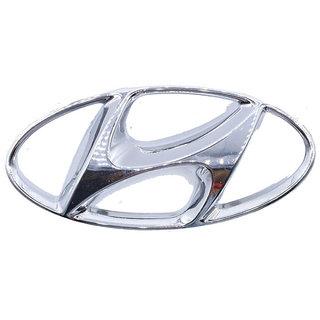 HYUNDAI Car Fro Logo Monogram Chrome Emblem for  EON  Silver