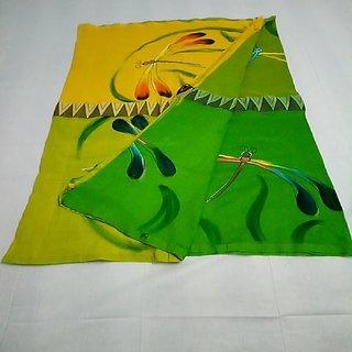 Handloom hand priented saree