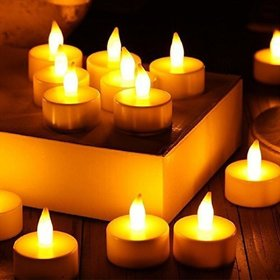 ReBuy Yellow Attractive Tealight Candle Holder (Pack of 6)
